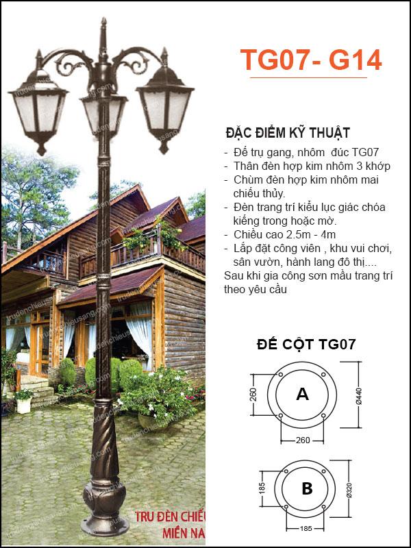 Trụ Đèn TG07-G14