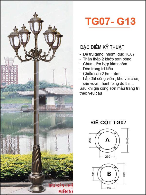 Trụ Đèn TG07-G13