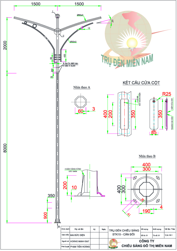 bản vẽ chiếu sáng STk15