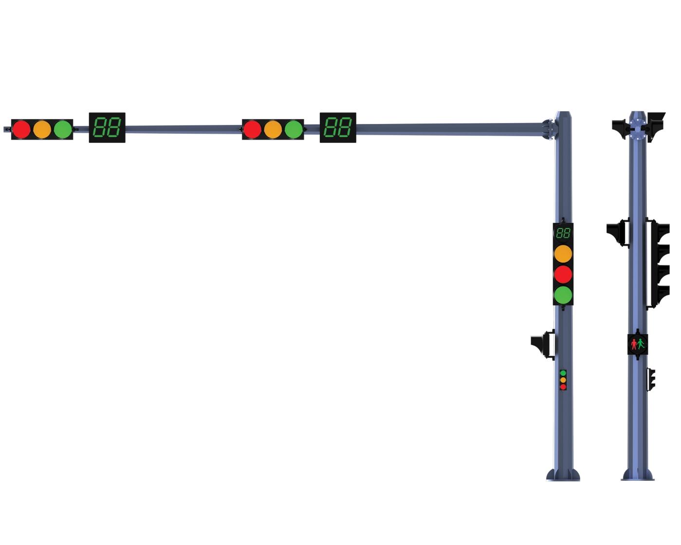 Trụ Đèn Tin hiệu giao thông thép mạ kẽm