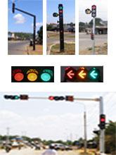 Trụ tin hiệu giao thông - Đèn xanh, vàng, đỏ