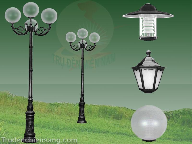 Phân loại Trụ đèn trang trí sân vườn 4 bóng