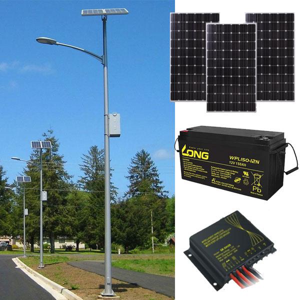 Cấu tạo bộ đèn năng lượng mặt trời 100w