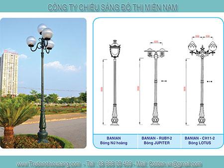 Cột đèn sân vườn banian Thương hiệu Việt